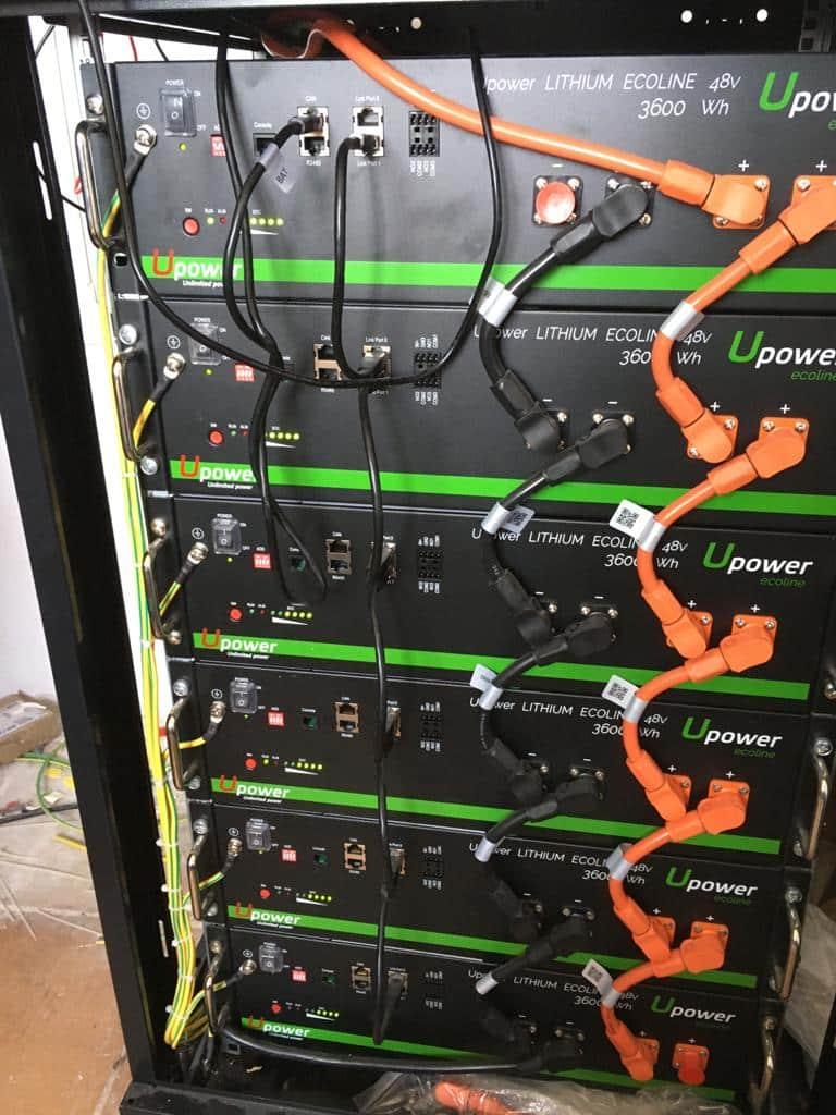 Autoconsumo conexión a red de 7 KW, con estructura de hierro galvanizado